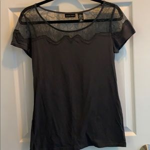 New York & Company lace accent tee